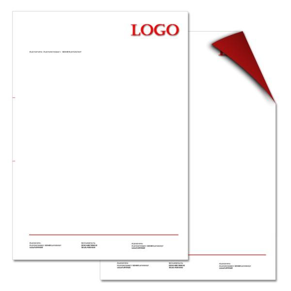 Briefbogen 2/1-farbig