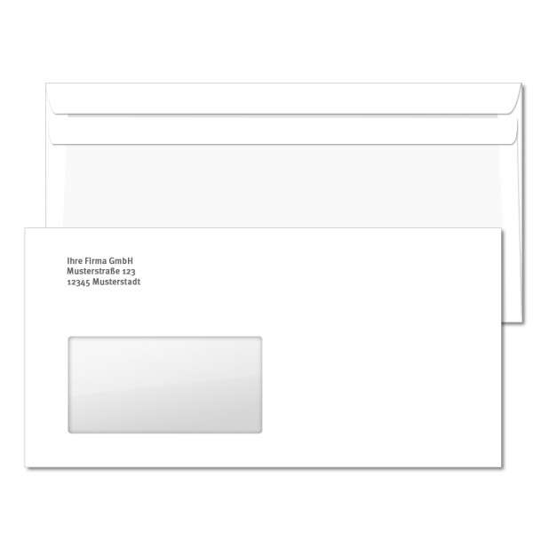 Umschlag Schwarz bedruckt