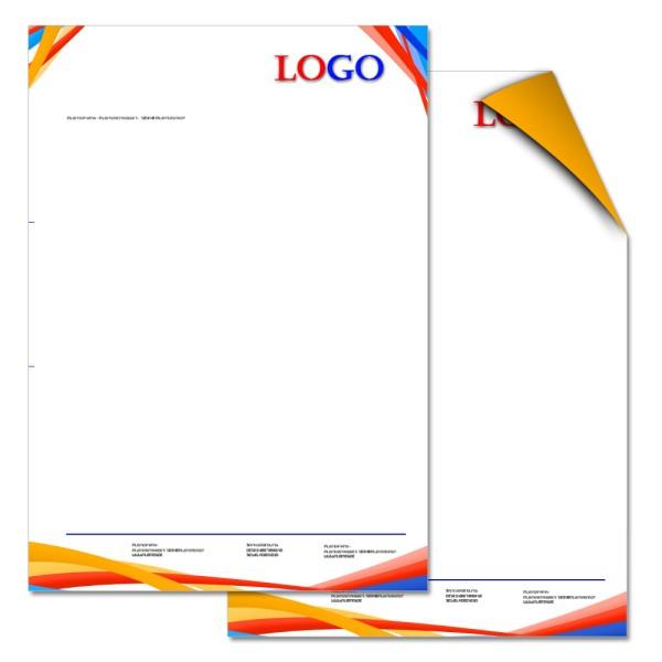 Briefbogen DIN A4 4/1-farbig