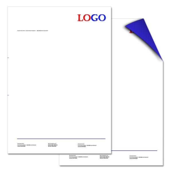 Briefbogen DIN A4 3/1-farbig