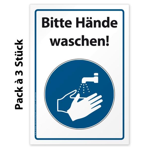 """Corona Aufkleber Hinweis """"Bitte Hände waschen"""""""