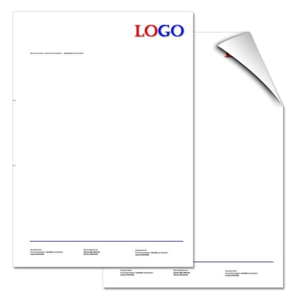 Briefbogen 3/0-farbig
