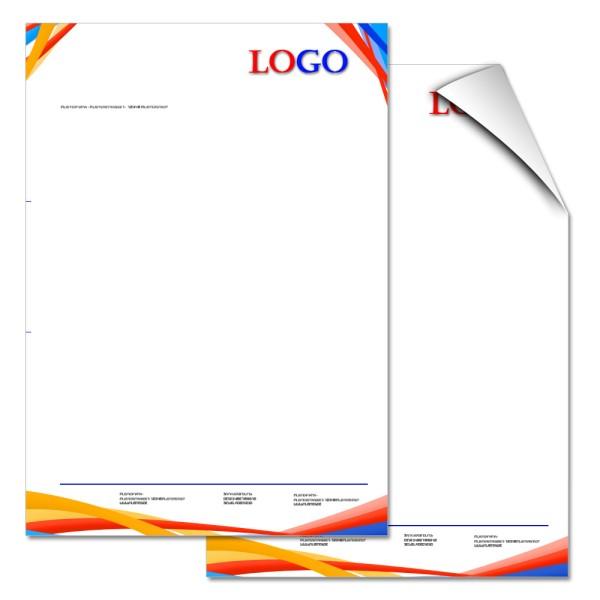 Briefbogen DIN A4 4/0-farbig