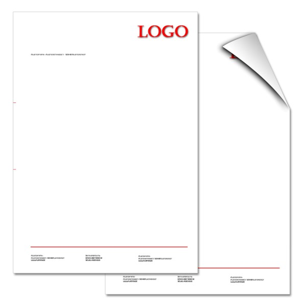 Briefbogen 2/0-farbig