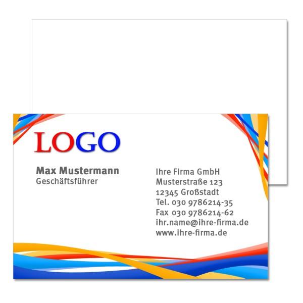 Visitenkarte 4 0 Farbig